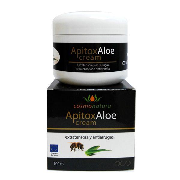 Crema con apitoxina veneno de abeja y aloe vera para pieles castigadas